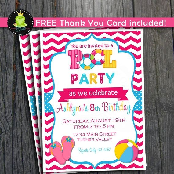 Pool Party Invitation Pool party Pinterest Pool party - pool party invitation