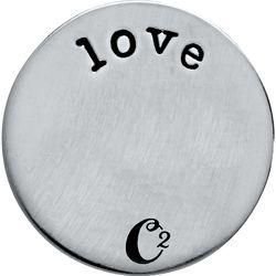 Large Silver #Love Plate #locketsandcharms #jennylouraya #locketsncharms #origamiowl http://locketsandcharms.com
