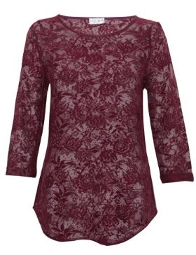 Indigo Collection Floral Lace Top-Marks & Spencer