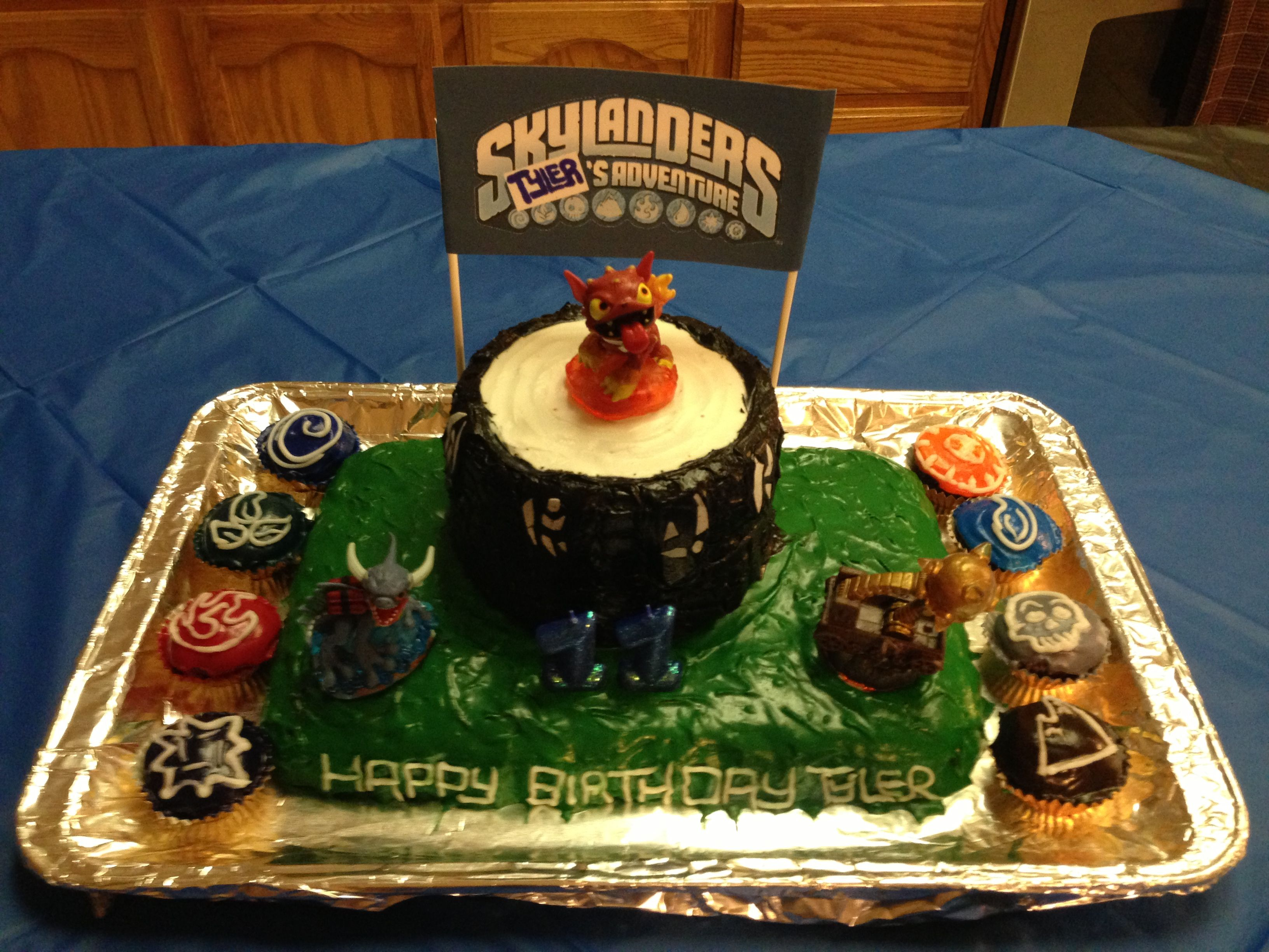 Tremendous Skylanders Giants Portal Birthday Cake No Fondant All Buttercream Personalised Birthday Cards Veneteletsinfo