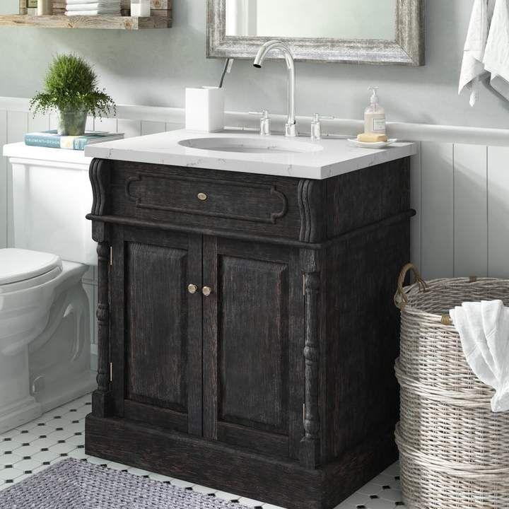 Laurel Foundry Modern Farmhouse Donie 30 Single Bathroom Vanity Set Bathroom Vanity Single Bathroom Vanity Vanity Tops With Sink