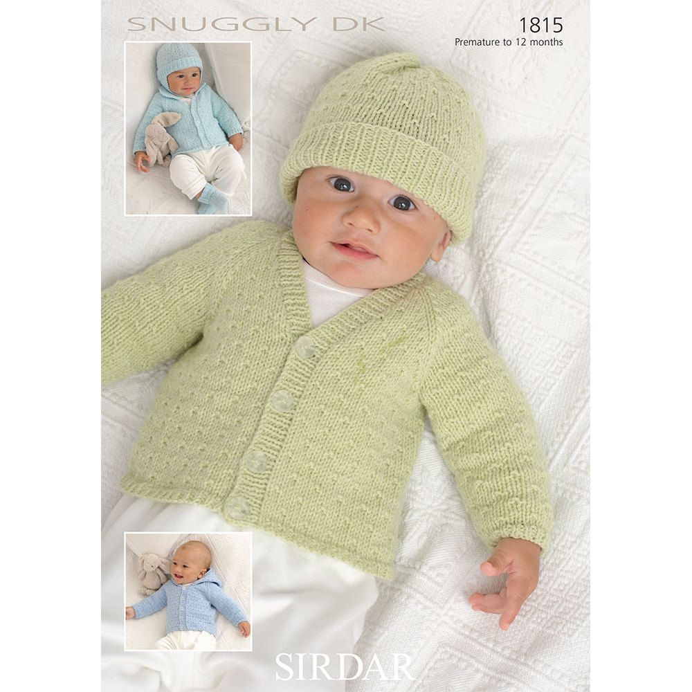 Sirdar Snuggly DK in 2020 | Baby cardigan knitting pattern ...