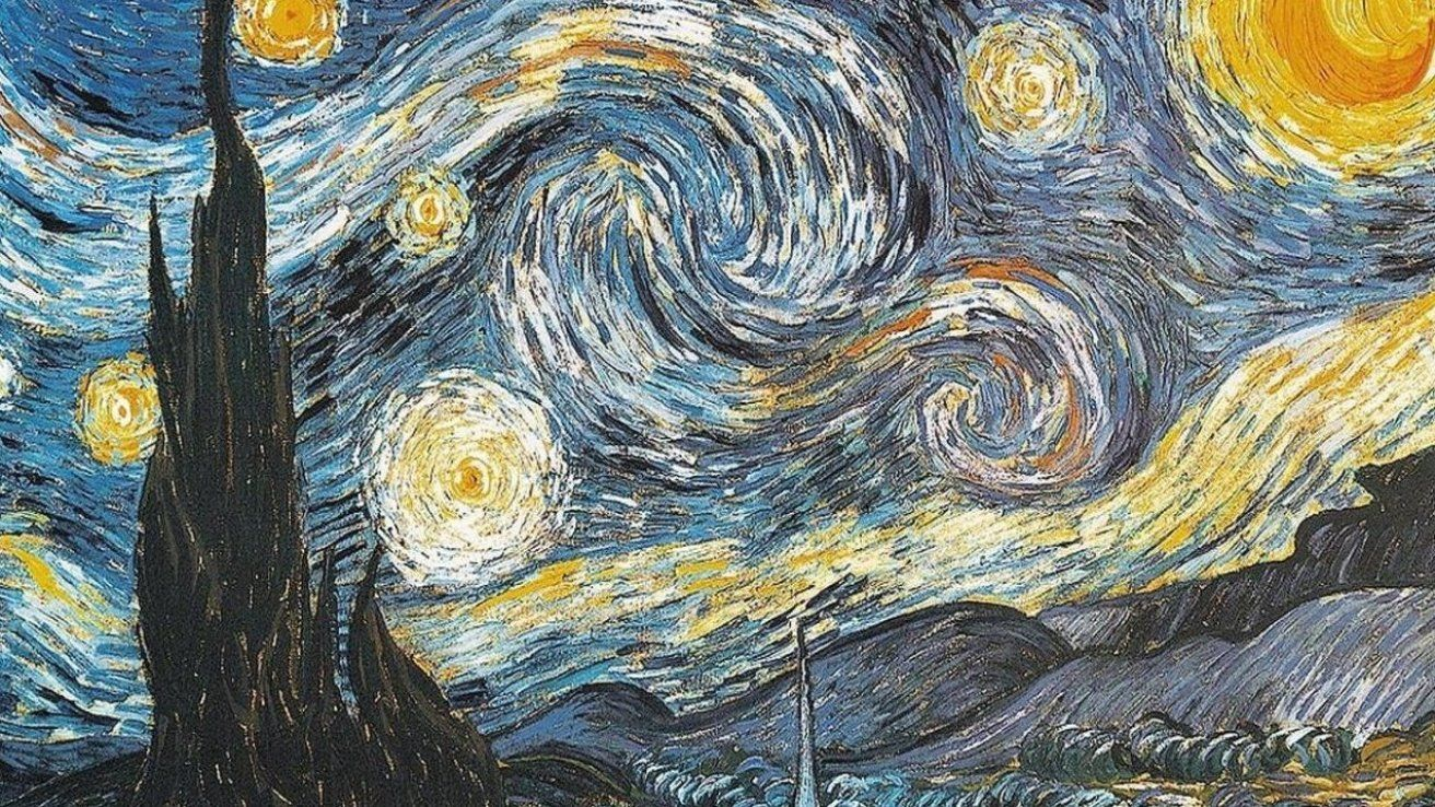 Van Gogh Desktop Wallpaper Wallpapersafari Artwallpaper Artwallpapervintage Artwallpaperdesktop In 2020 Starry Night Wallpaper Starry Night Original Canvas Art