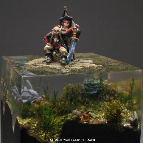 MiniatureWargaming - Pirates On A Raft Water Base   28mm