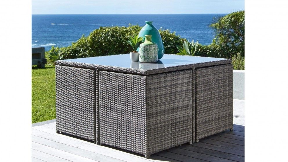 Mours 9 Piece Outdoor Square Dining Setting Living Furniture Bbqs Harvey Norman Australia
