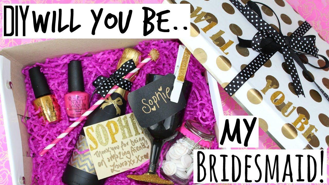 Diy Will You Be My Bridesmaid Gift Kate Spade Inspired Wedding