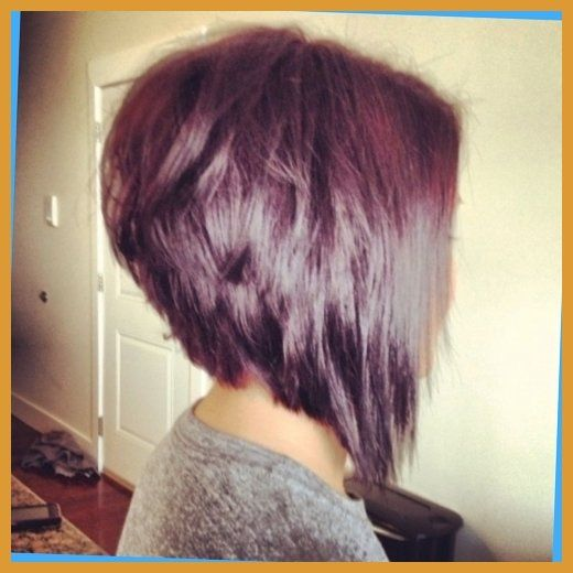 Inverted Bob Hairstyle Back View Orchid And Merlot With A Choppy Within Stacked Inverted Bob Hair Styles Stacked Bob Hairstyles Bob Hairstyles