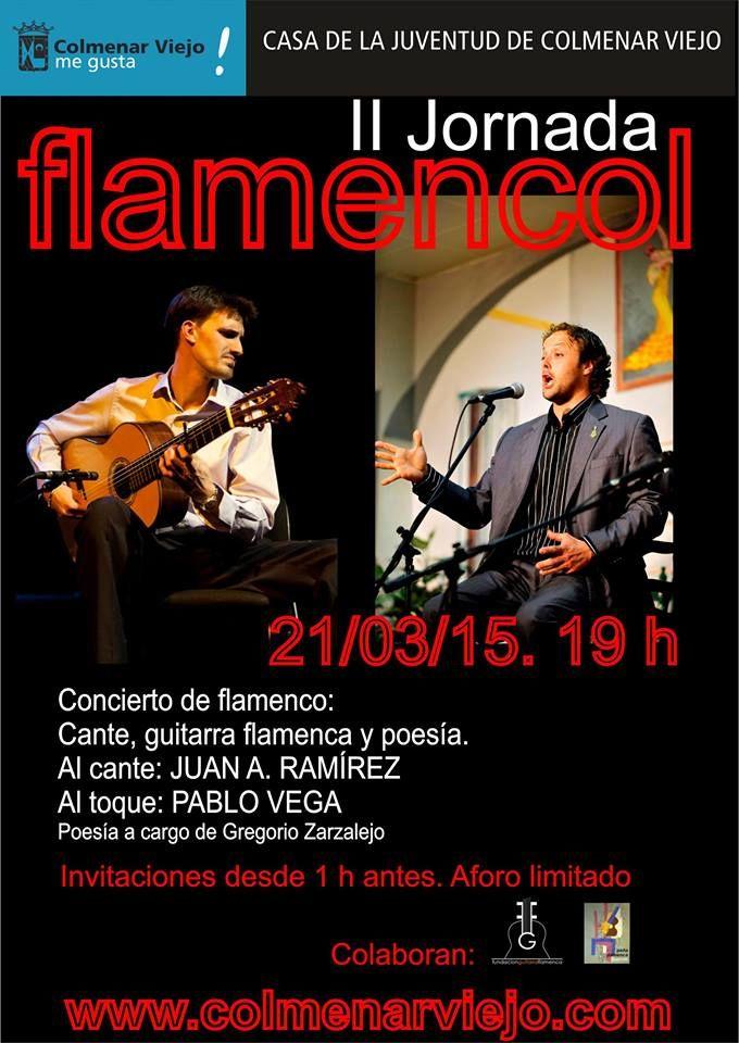 Hola Amigos. Os animamos a asistir a este evento y disfrutar del Toque de Pablo Vega y el cante de Juan A. Ramirez, no os arrepentiréis de escuchar a estos grandes artistas, os esperamos a todos. Un saludo Fundación Guitarra Flamenca www.fundacionguitarraflamenca.com