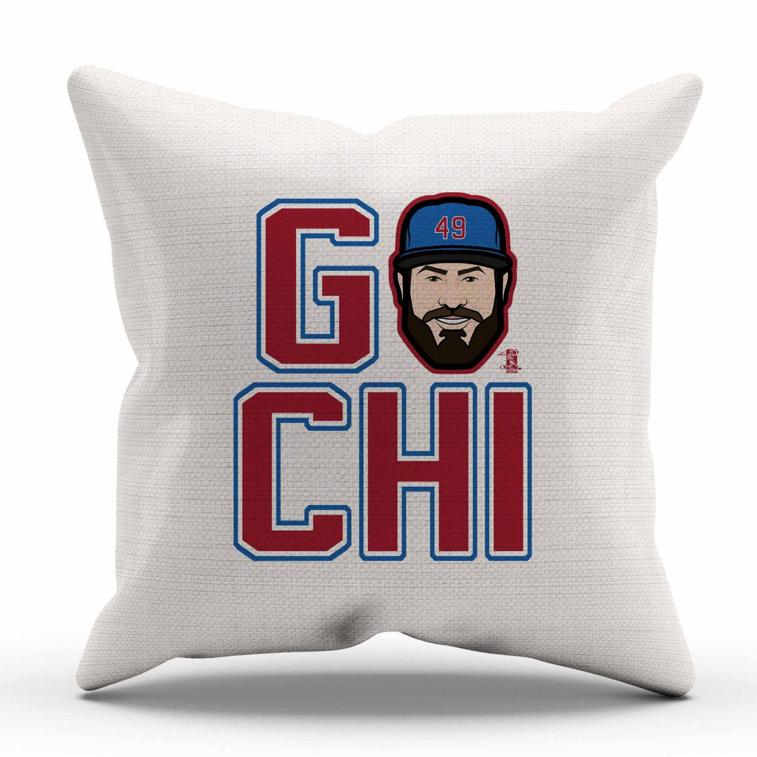 jake arrieta go r chicago c decorative pillow officially licensed