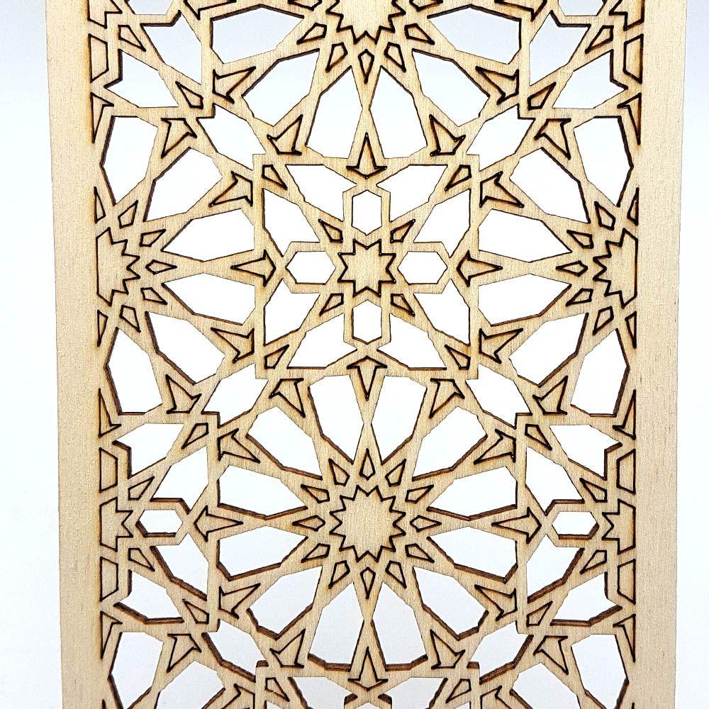 Árabe Celosía Láser Corte Modelo Por Laminada Madera Decoración N80mwnv