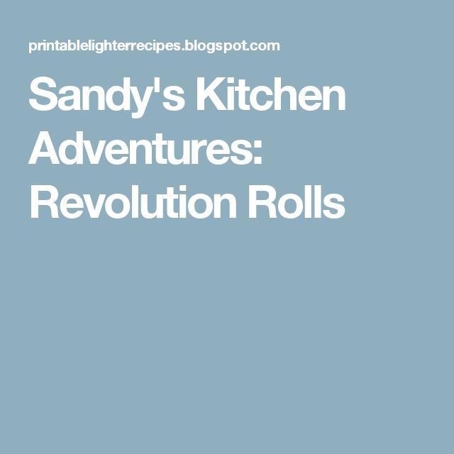 Sandy\'s Kitchen Adventures: Revolution Rolls | Optavia | Pinterest ...