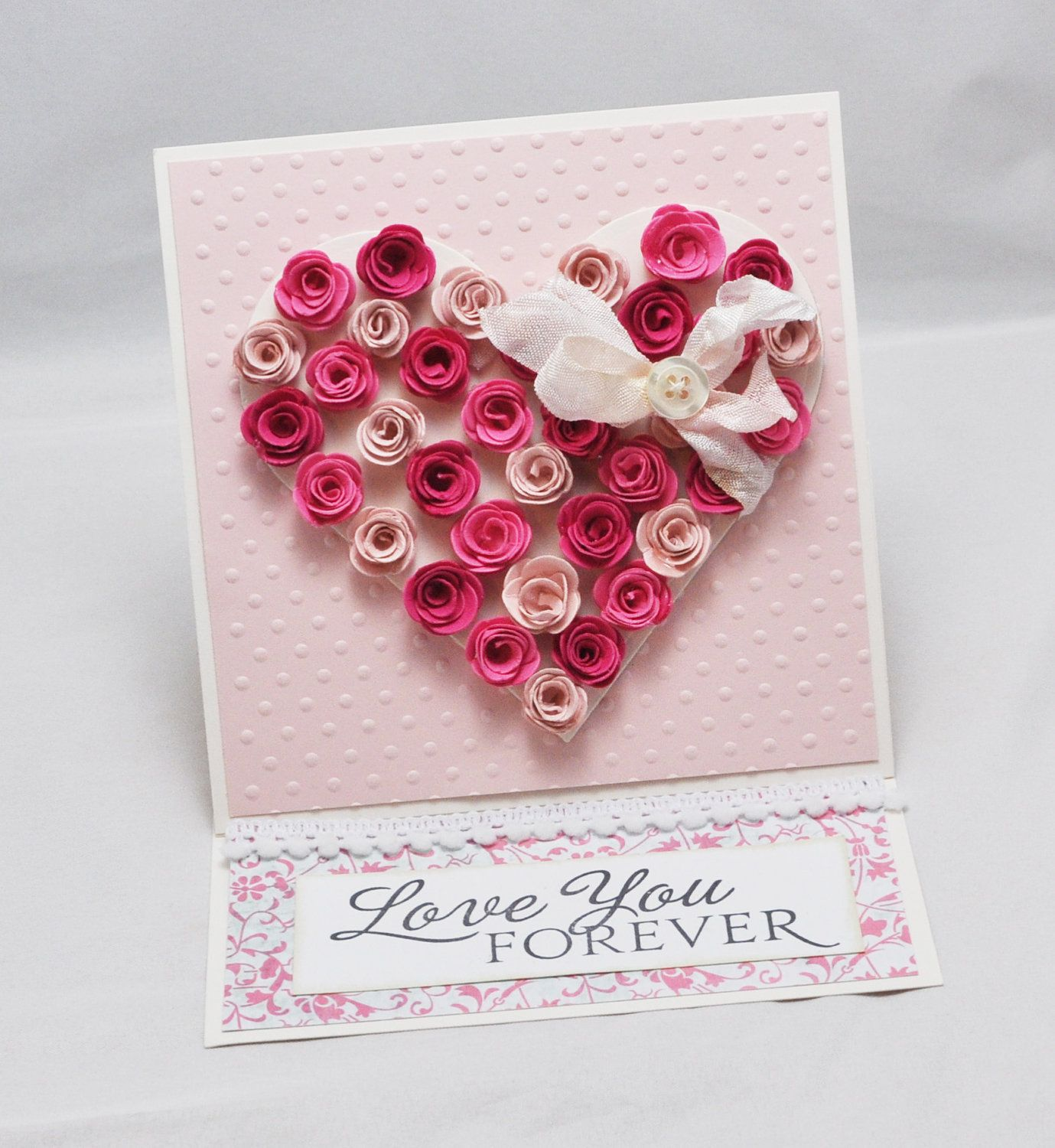 Rose Heart Easel Card With Matching Gift Box With Images
