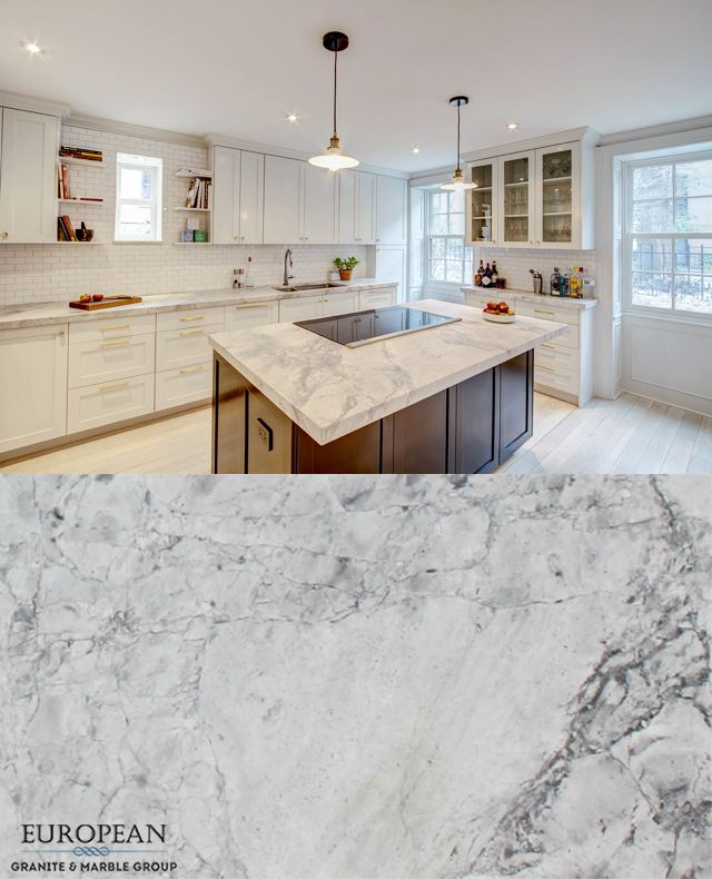 Natural Stone Kitchen Countertops: Featured In This Kitchen Countertop, 'Super White