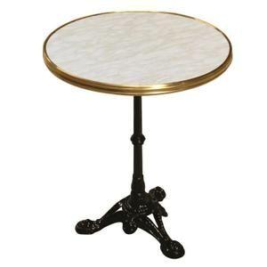 table bistro original 2 personnes 60 x 60 x 71 cm d cor marbre de genes achat vente table de. Black Bedroom Furniture Sets. Home Design Ideas