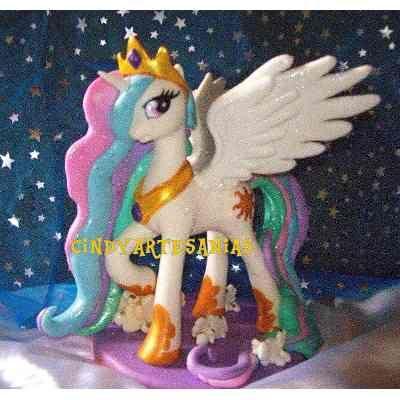 Adorno Torta My Litlle Pony Princesa Celestia Luna Candace $500 acJiw - Precio D Argentina