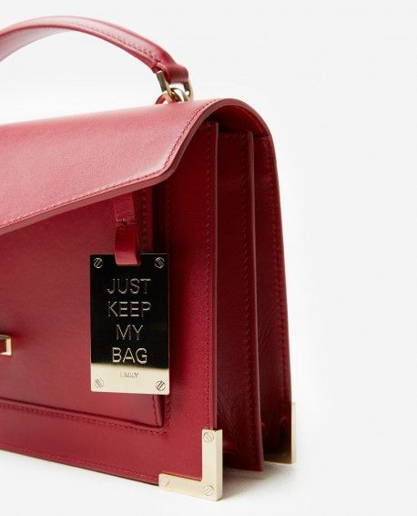 41b0c3d53504 Iconic Emily bag mini version carmine red - THE KOOPLES WOMAN