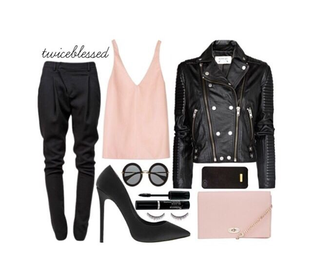 Pink and leather mash up