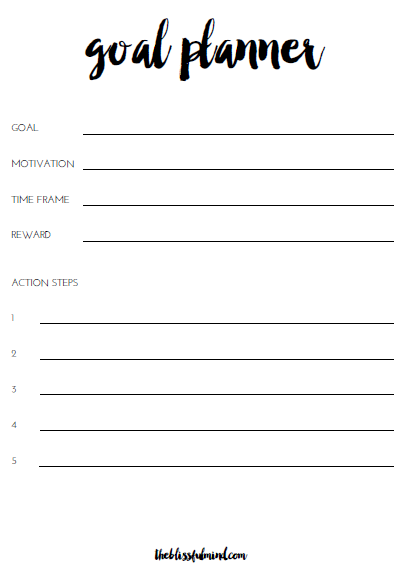 5 Steps To Help You Achieve Any Goal Free Goal Planner