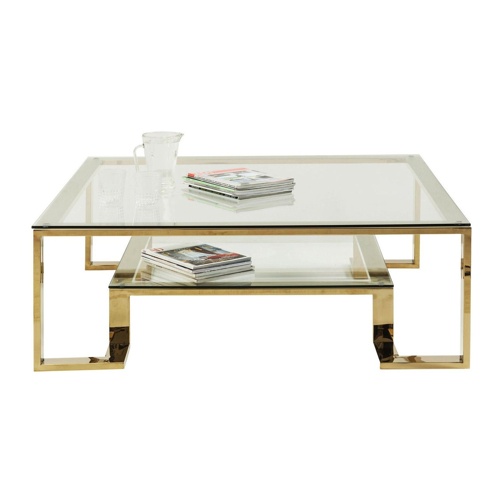 Table Basse Retro Dore Rush Kare Design Table Basse Kare Design Tables Basses Dorees