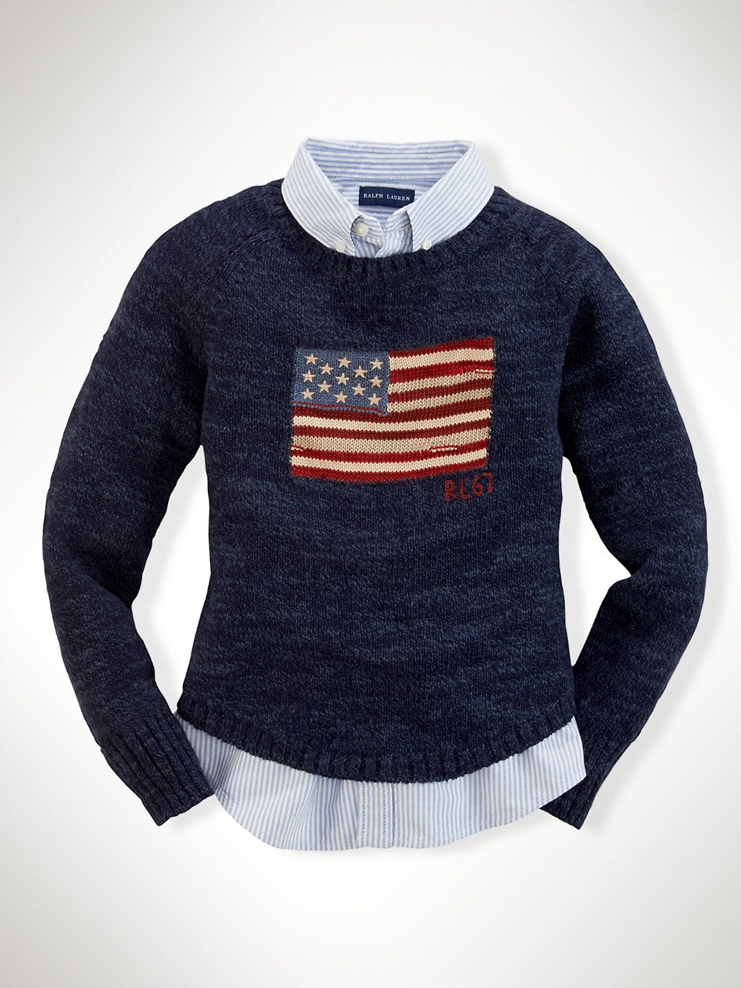 Flag Cotton Pullover - Sweaters Girls 7–16 - RalphLauren.com ...