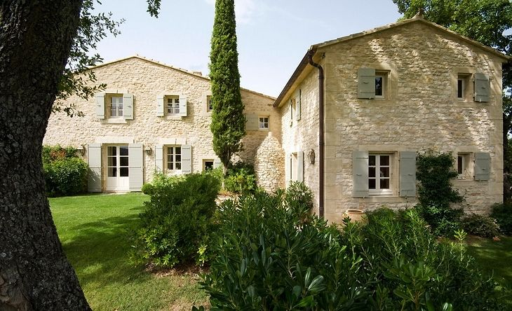 Villa in provence inspiring interiors limestone for French farmhouse house plans