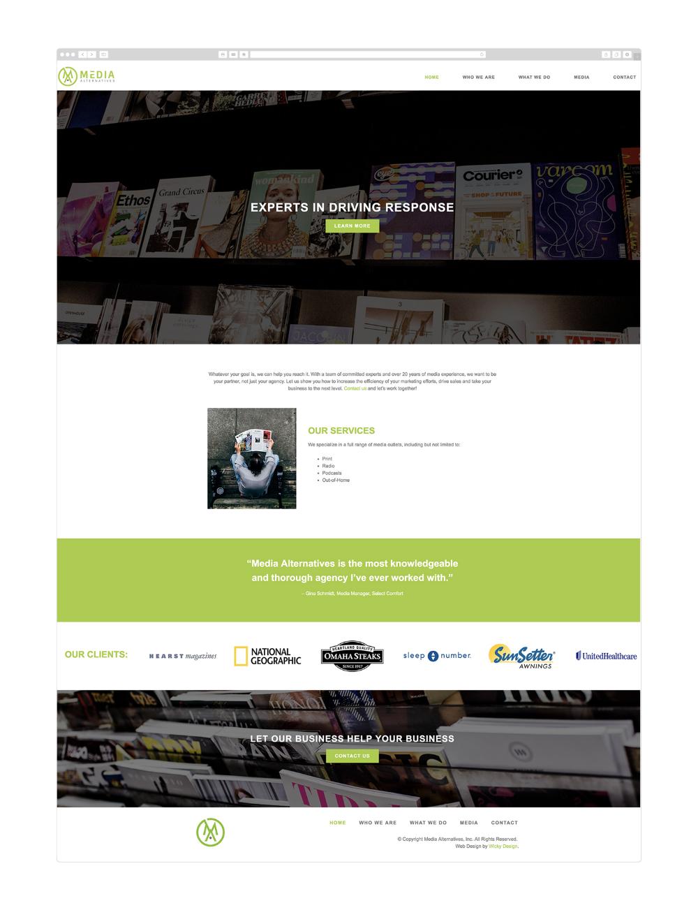 Wordpress Web Design Media Alternatives Philadelphia Wicky Design Wordpress Web Design Web Design Custom Web Design