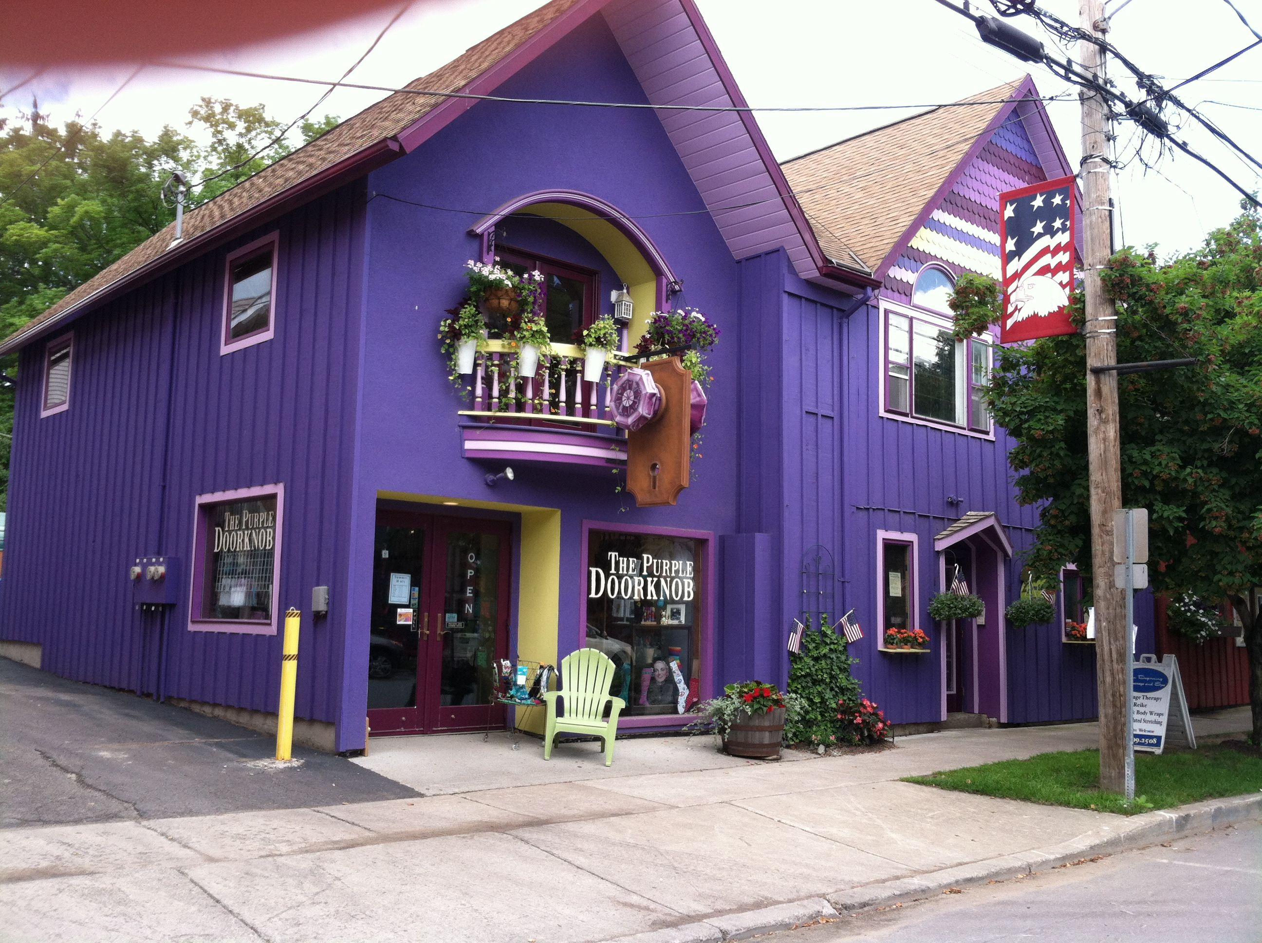 Ellicottville, NY - The Purple Door Knob...ha ha ha what a name for ...
