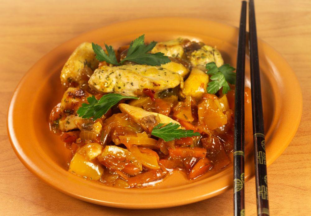 Foo chow red wine chicken hong jiu ji