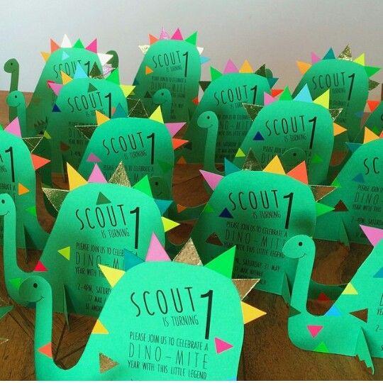 Bondville Cutest Dinosaur Birthday Party Invites From Peaches Keen