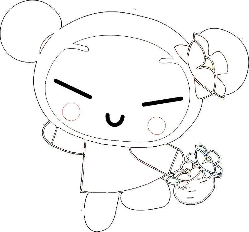 Pucca Bringing Fruits Coloring Page Angel Coloring Pages Fruit Coloring Pages Coloring Pages