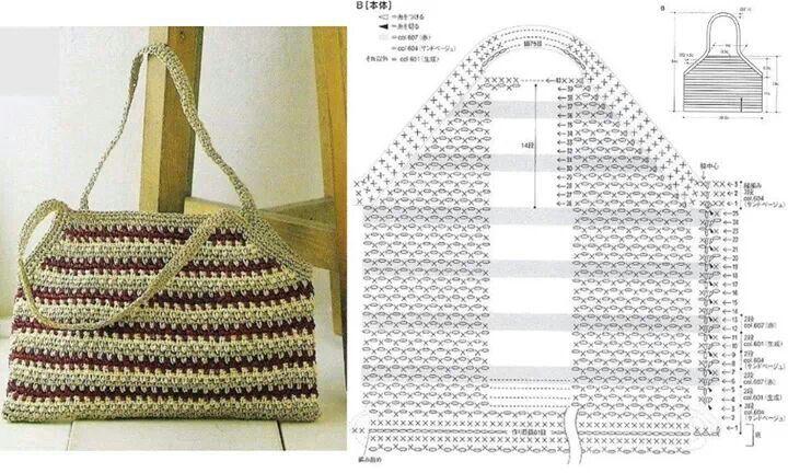 Pattern bag crochet