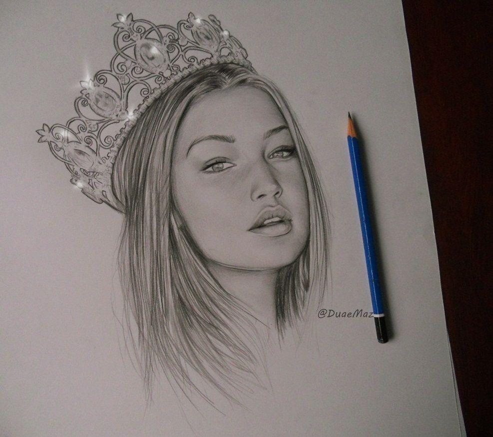 Gigi Hadid My Drawings Duaemaz Art Sketches Sketches