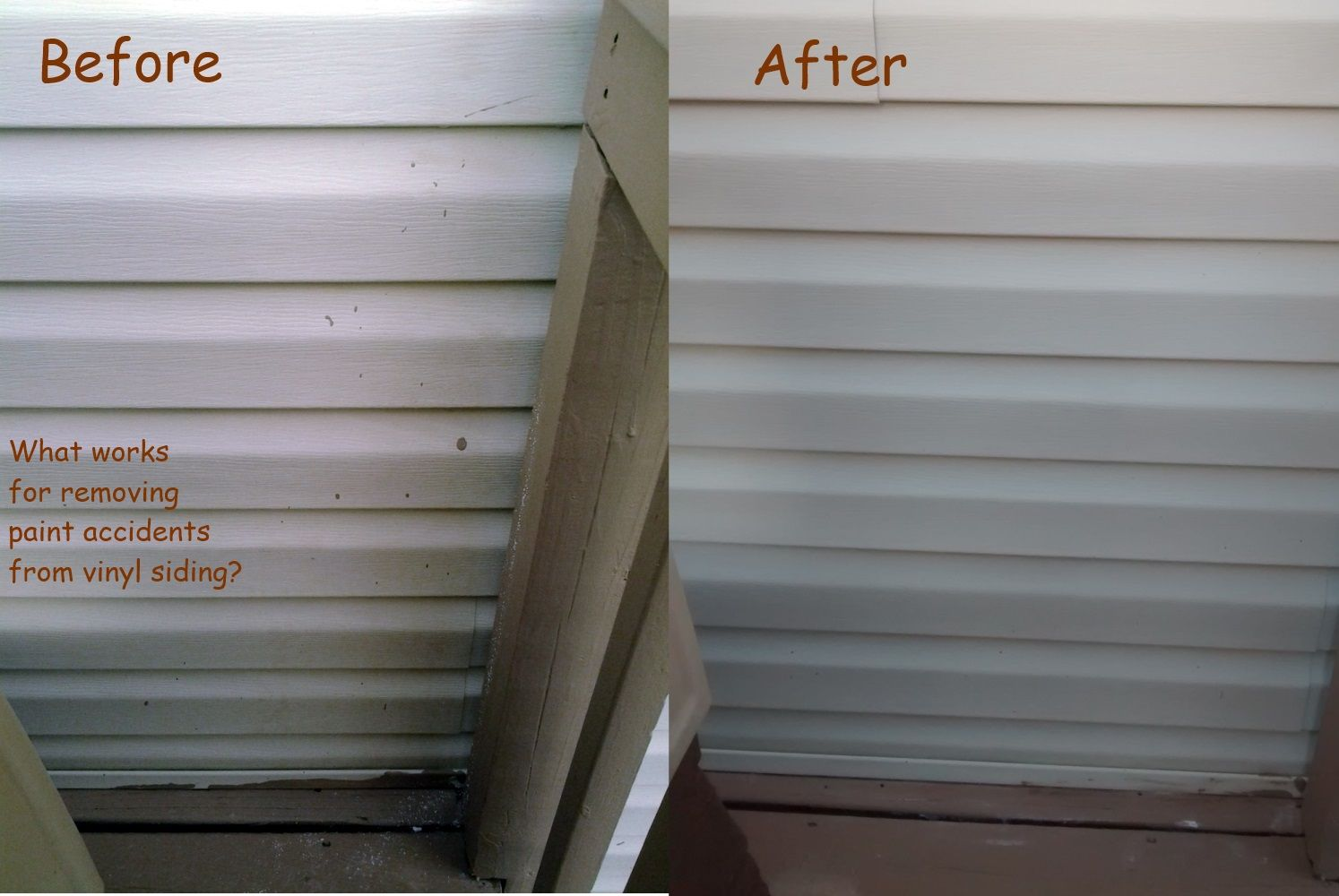 Diy Project Best Way To Get Paint Drips Off Vinyl Siding Vinyl Siding Drip Painting Deck Over Paint