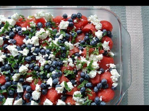 Sommersalat med vandmelon og feta