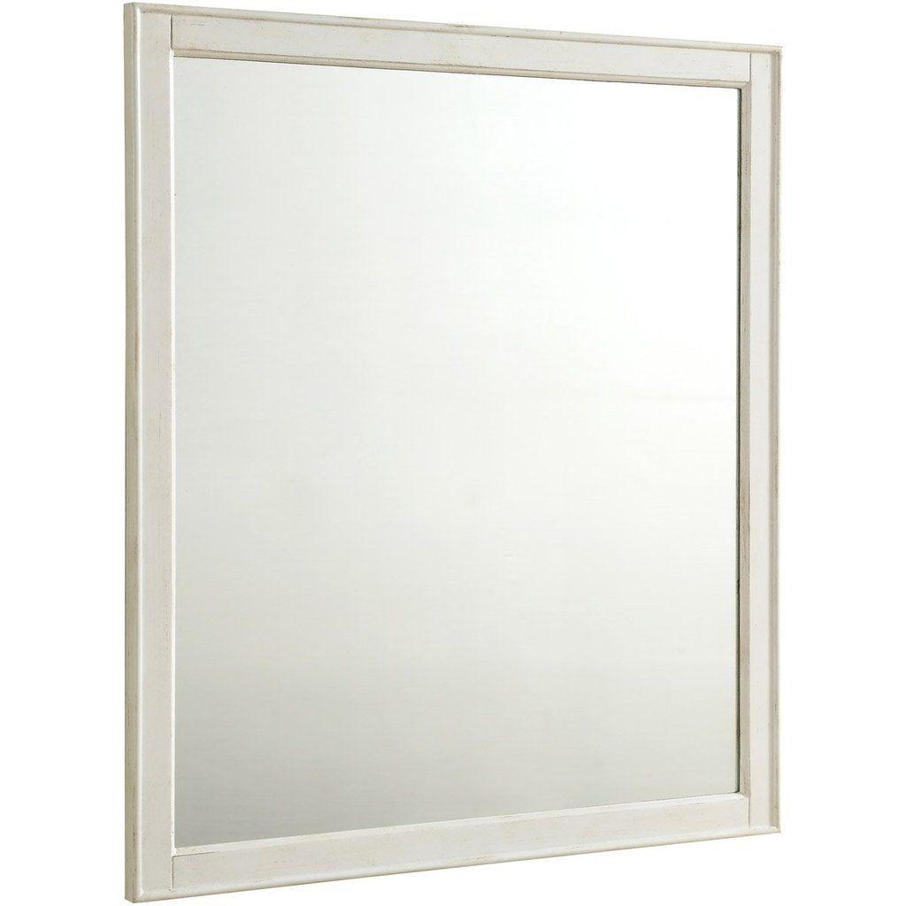 Lexington 32 X 36 Traditional Mirror Antique White Finish Vm13032aw