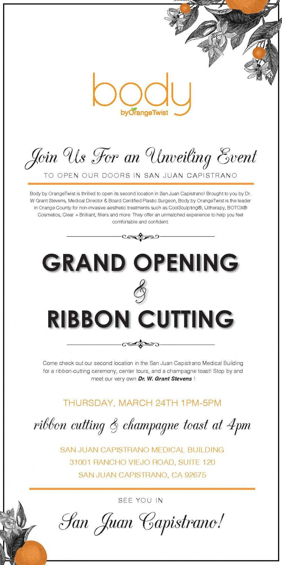 Unveiling Invitation Card Grand Opening Invitations Grand Opening Grand Opening Party