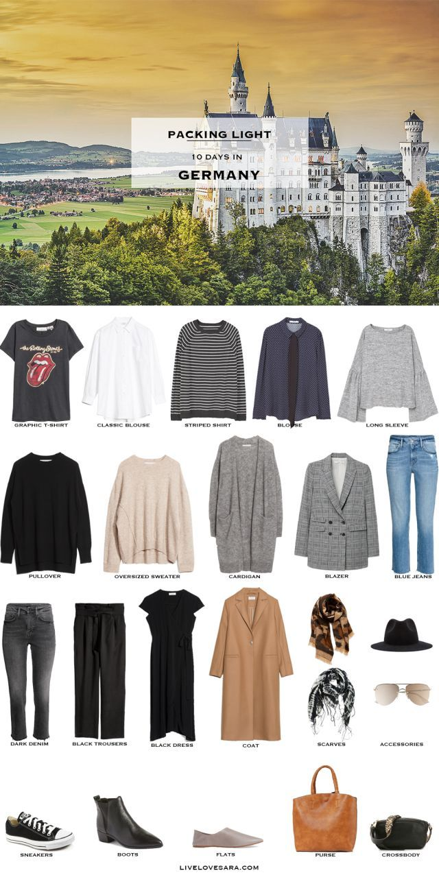 What to Pack for Germany in Early Fall #travelwardrobesummer