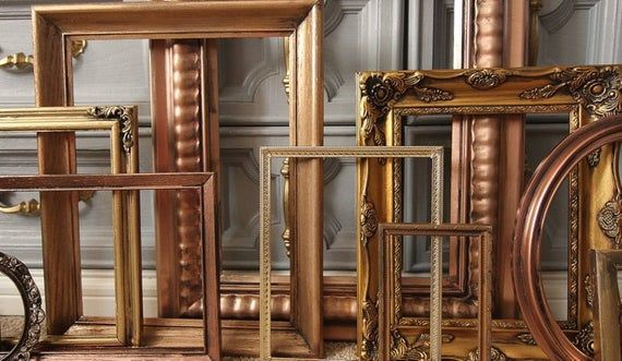 Set of 10 Open Frames - Gold, Copper, Bronze - Wall Gallery - Nursery - Wedding - Vintage Frames - F #pictureplacemeant