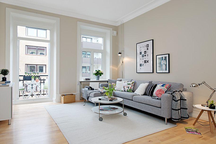 living room with beautiful balcony nordic interior