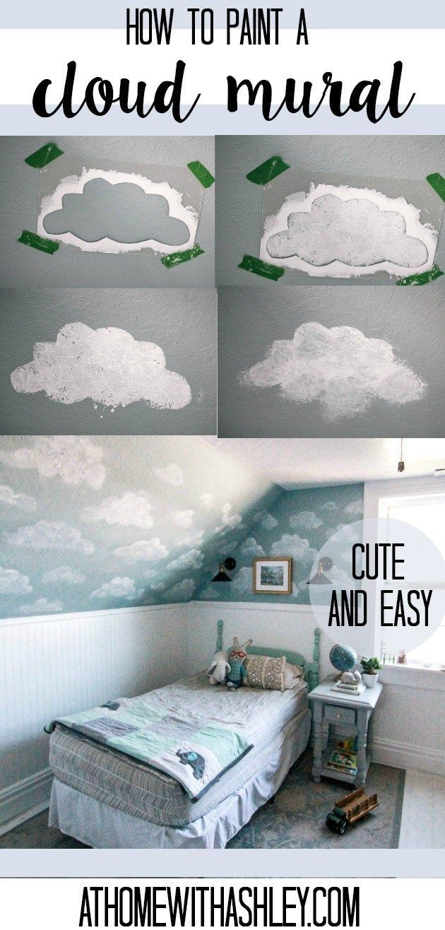 How to Paint a Cloud Mural images