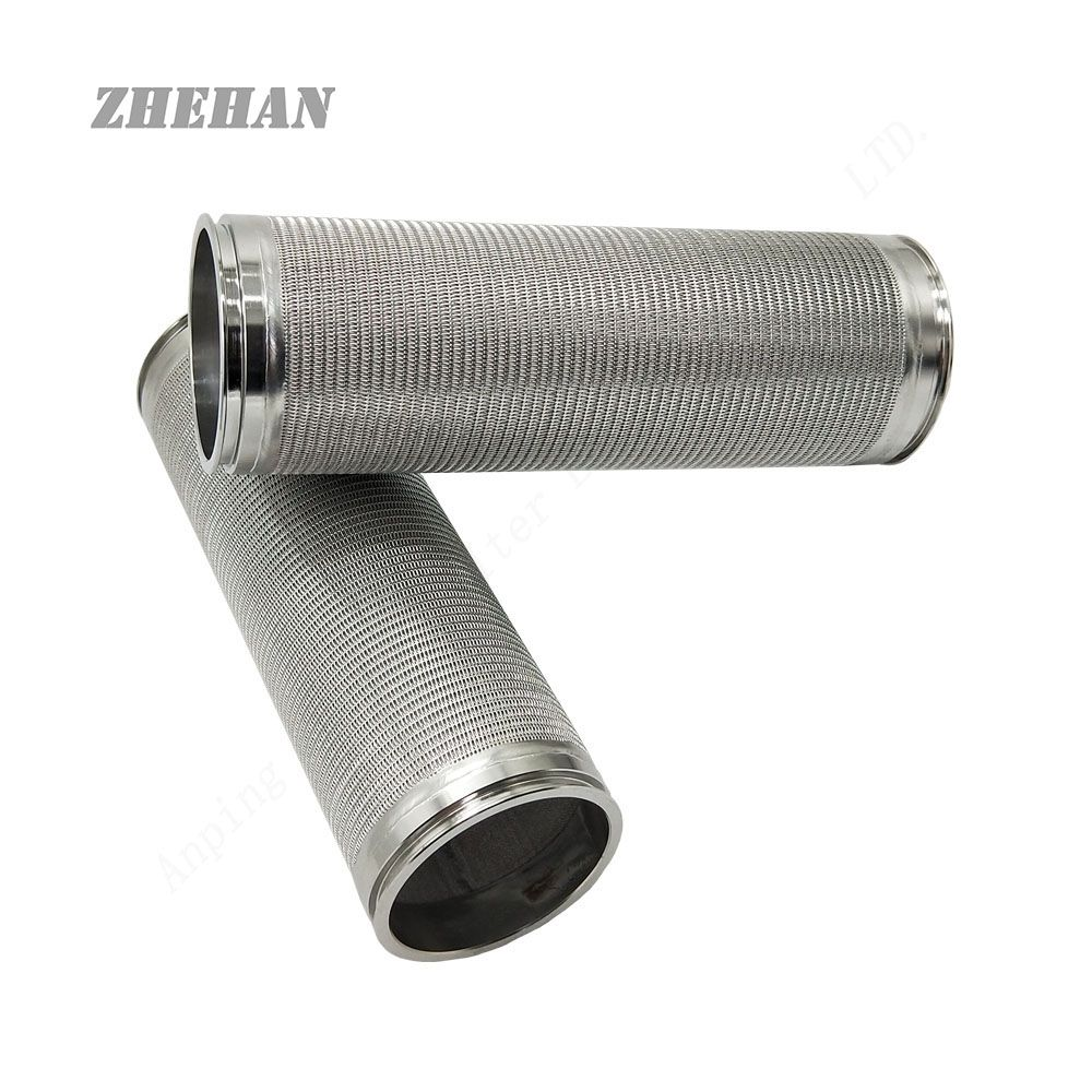 Pin on stainless steel filter element