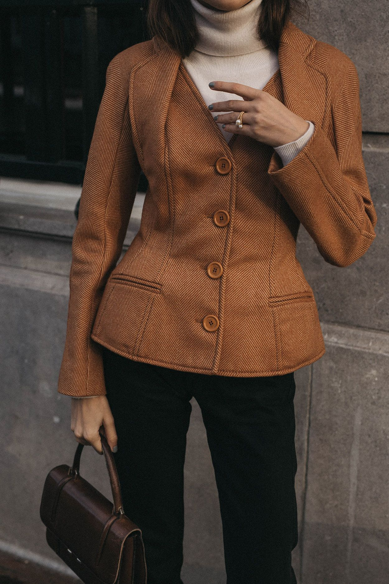 7eda19785a How to wear a vintage Christian Dior iconic bar jacket vestiaire collective  shopping editorial unique style