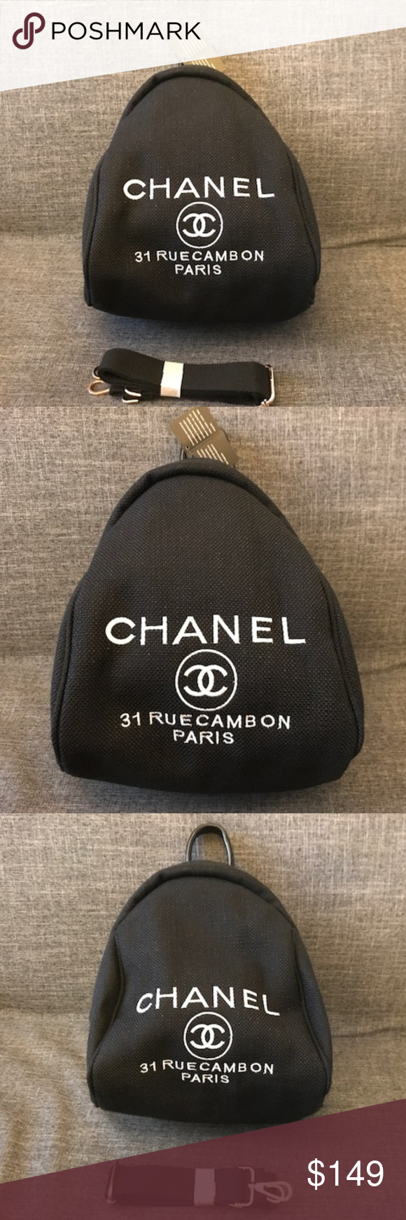 42f8ead3fe869d Chanel backpack Vip Gift Cross Body Bag New Black Authentic Brand New Chanel  Canvas Cross Body