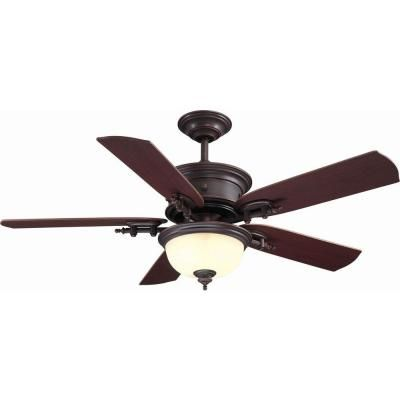 Hampton Bay Dawson 54 In Weathered Copper Ceiling Fan Ac426 Wcp At The Home Depot Family Room Or Offic Ceiling Fan With Light Copper Ceiling Fan Ceiling Fan