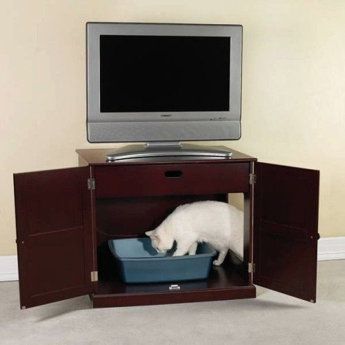 meow town mdf litter box. Meow Town Concord Litter Box Cabinet Mahogany Mdf W