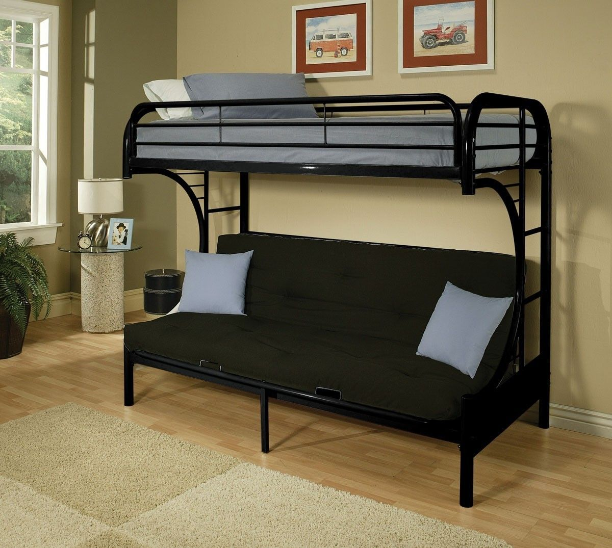 Bunk Bed With Futon Bottom Futon Bunk Bed Childrens Bedroom