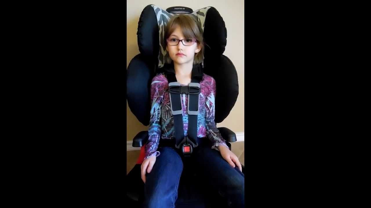 how to buckle a older child into a 5 point harness car seat