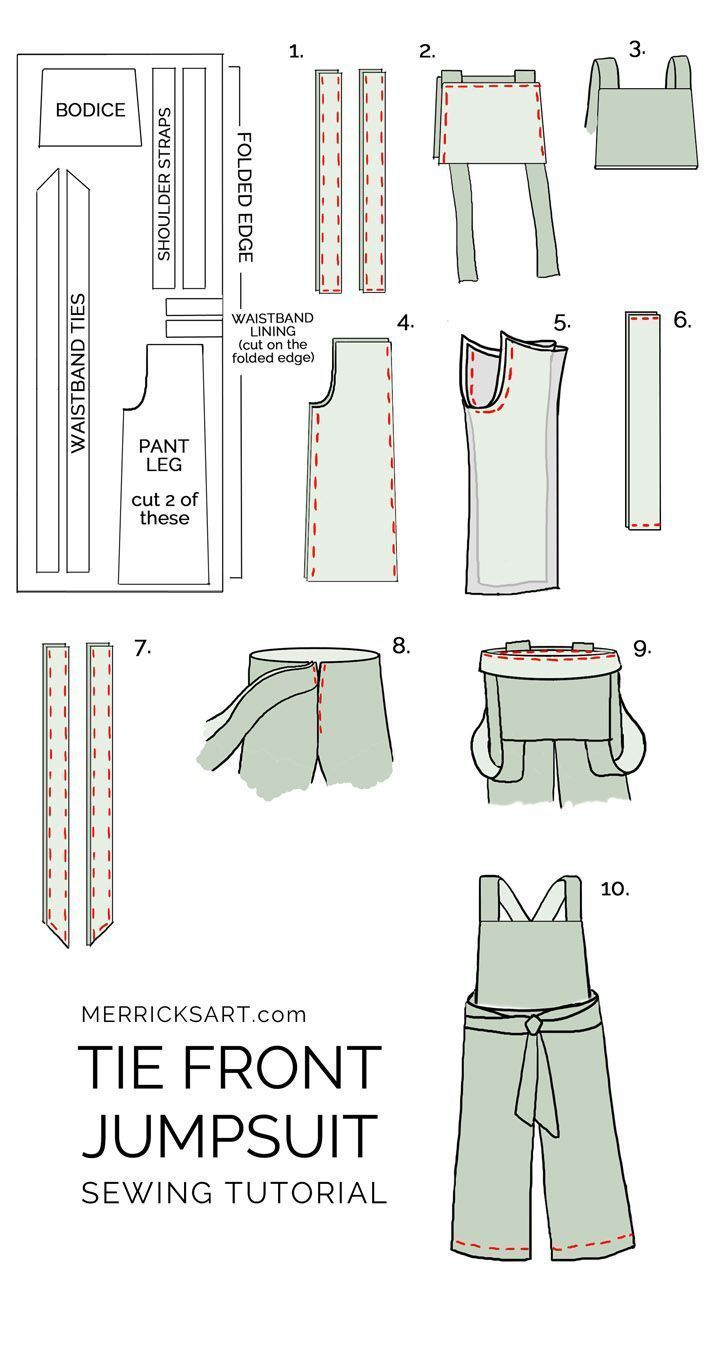 How to Make a Summer Jumpsuit Intermediate Sewing Tutorial Anleitung für einen Sommer Jumpsuit Creative knitting ideas models Great knitting knitting ideas with croc...
