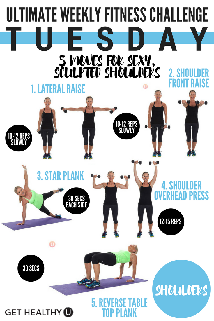 Ultimate Weekly Fitness Challenge Get Healthy U Weekly Fitness Challenge Workout Challenge Extreme Workouts