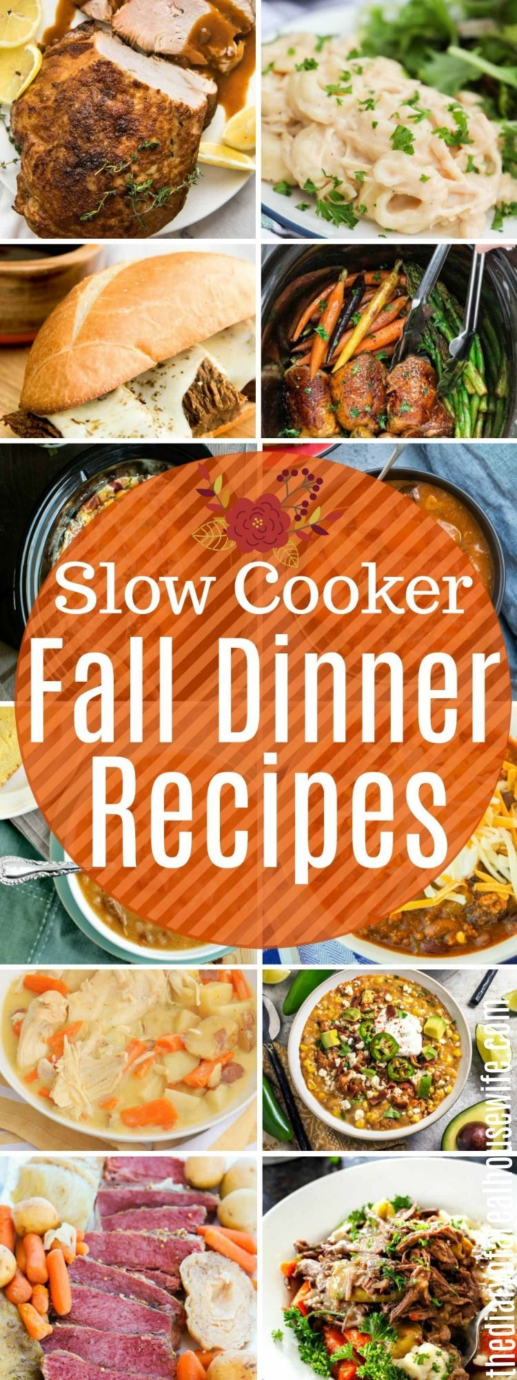 These Slow Cooker Fall Dinner Recipes are some of the best. #easyrecipe #slowcooker #fallrecipe #falldinnerrecipes